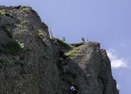 Aufstieg zum Gipfel von Steineberg